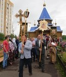 Божественная Литургия и освещение фундамента Свято-Троицкого  храма Преосвященнейшим епископом Питиримом